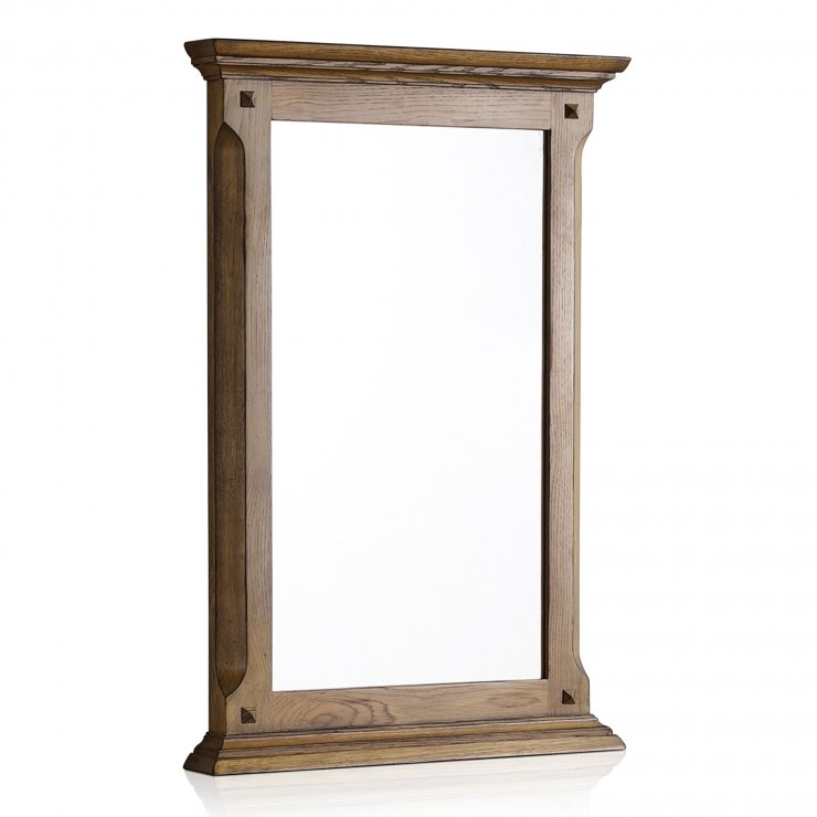 Manor House Vintage Solid Oak 900mm x 600mm Wall Mirror - Image 4