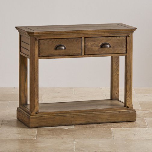 Manor House Vintage Solid Oak Console Table