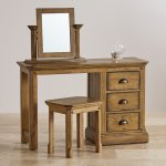Manor House Vintage Solid Oak Dressing Table Mirror - Thumbnail 3