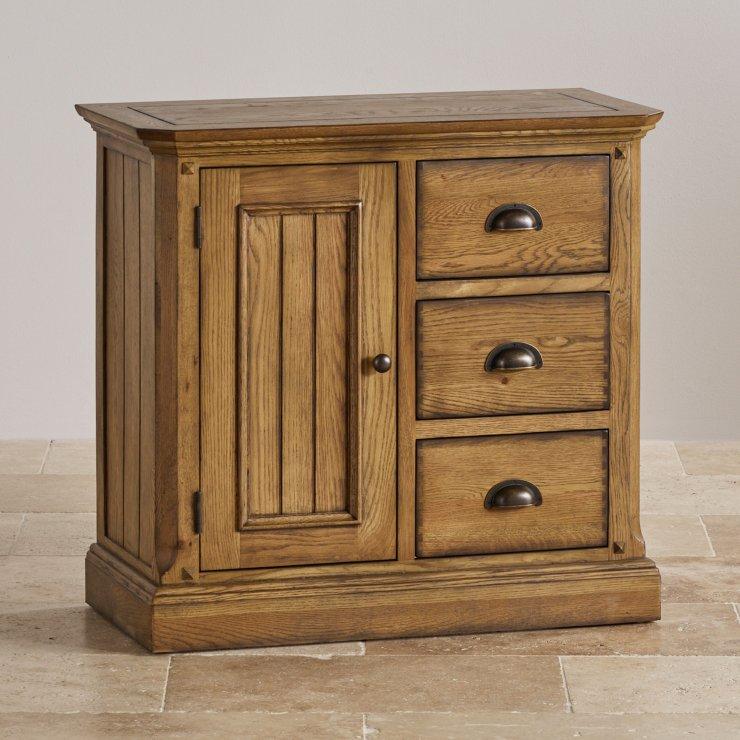 Manor House Vintage Solid Oak Storage Cabinet