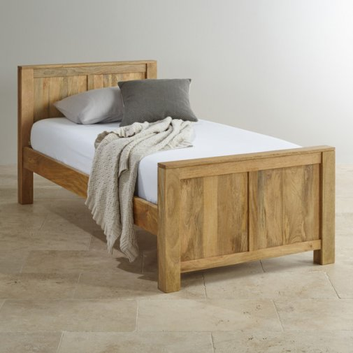 Mantis Light Natural Solid Mango 3ft Single Bed