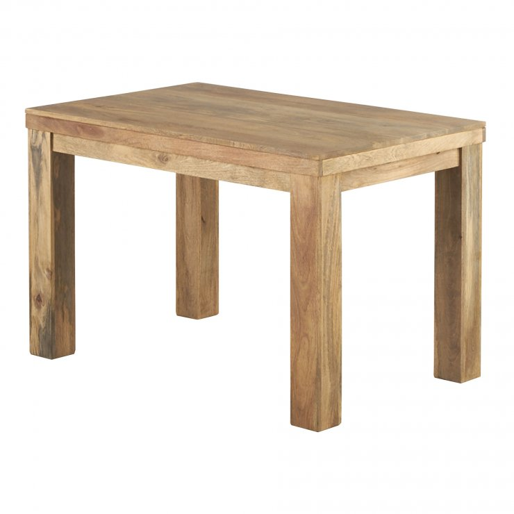 """Mantis Light Natural Solid Mango 4ft x 2ft 6"""" Dining Table - Image 4"""