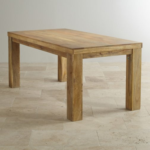 "Mantis Light Natural Solid Mango 5ft x 2ft 6"" Dining Table"