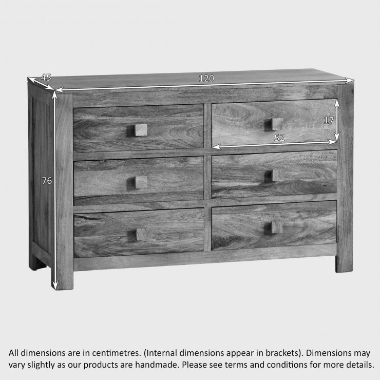 Mantis Light Natural Solid Mango 6 Drawer Chest