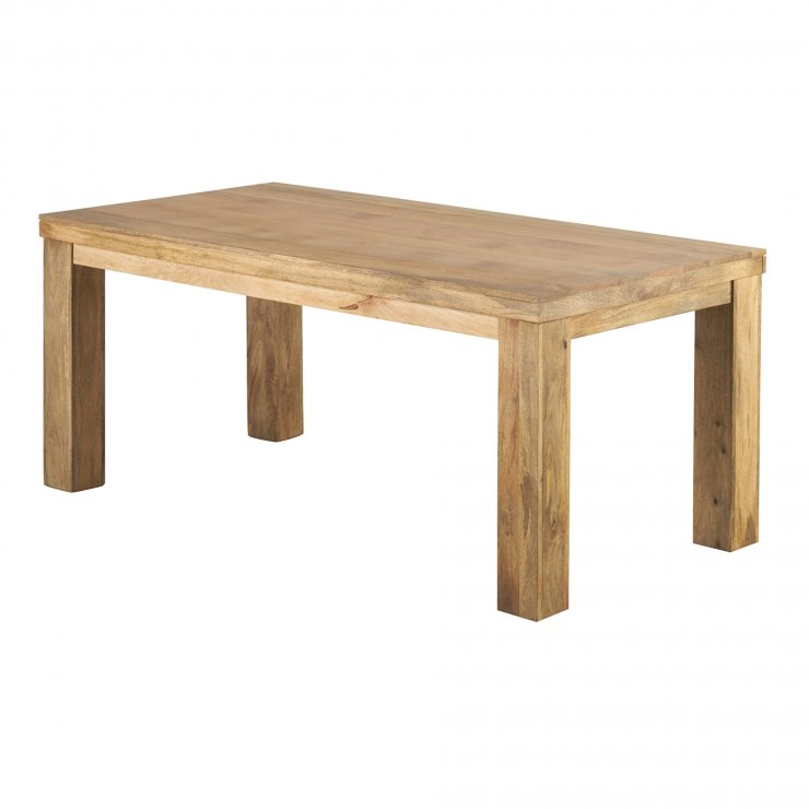 Mantis Light Natural Solid Mango 6ft x 3ft Dining Table - Image 5
