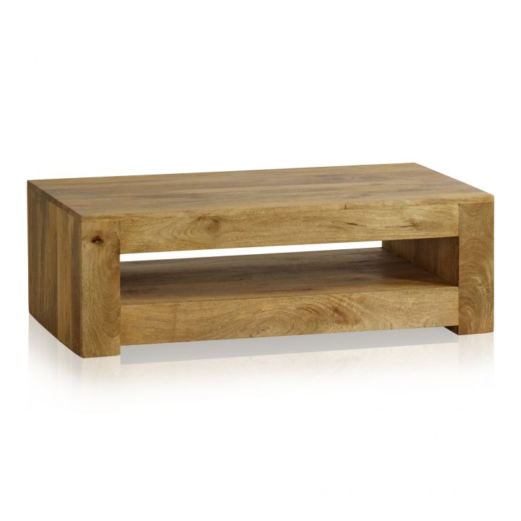 Mantis Light Natural Solid Mango Coffee Table - Image 1