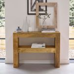 Mantis Light Natural Solid Mango Console Table - Thumbnail 3