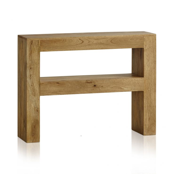 Mantis Light Natural Solid Mango Console Table - Image 6