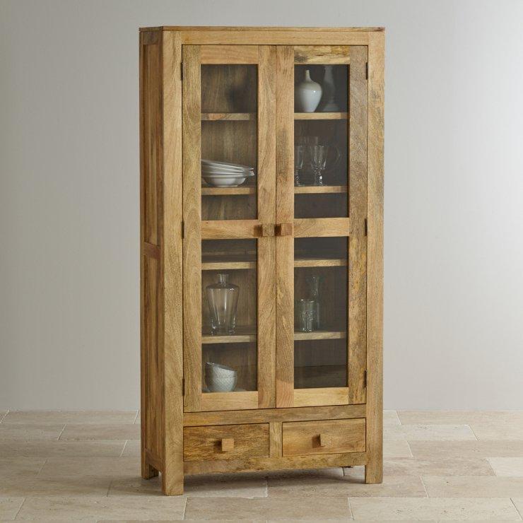 Mantis Light Natural Solid Mango Glazed Display Cabinet