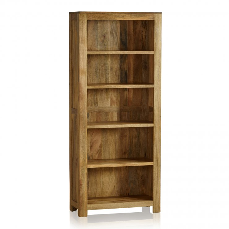 Mantis Light Natural Solid Mango Tall Bookcase - Image 4