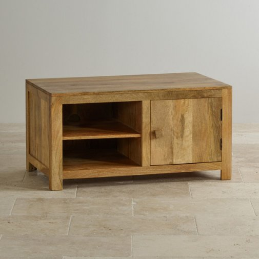 Mantis Light Natural Solid Mango Large TV Cabinet