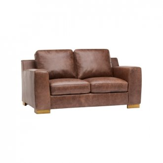 Marco 2 Seater Sofa - Brown Vintage Leather