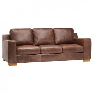 Marco 3 Seater Sofa - Brown Vintage Leather