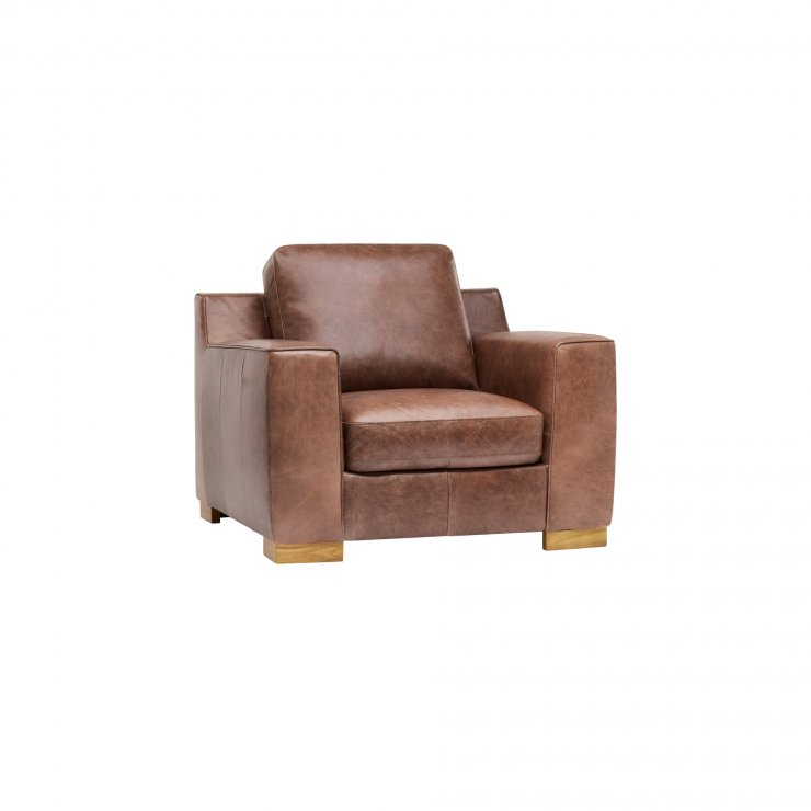 Marco Armchair - Brown Vintage Leather - Image 9