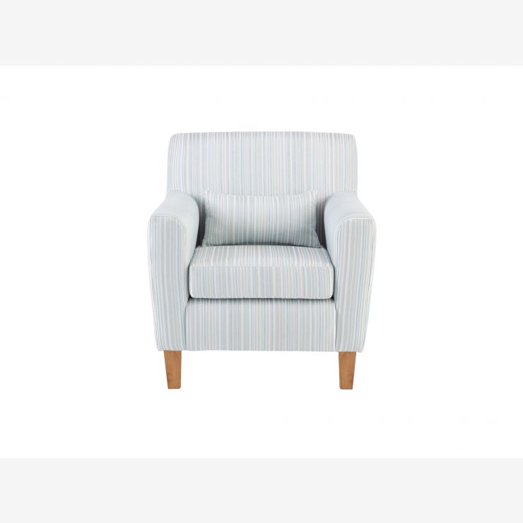 Marseille Accent Armchair in Vento Pastel Blue - Image 1