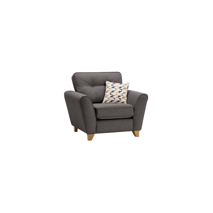 Memphis Armchair in Chase Fabric - Charcoal - Image 10
