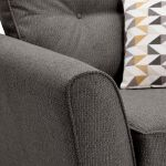 Memphis Armchair in Chase Fabric - Charcoal - Thumbnail 8