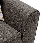 Memphis Armchair in Chase Fabric - Charcoal - Thumbnail 7