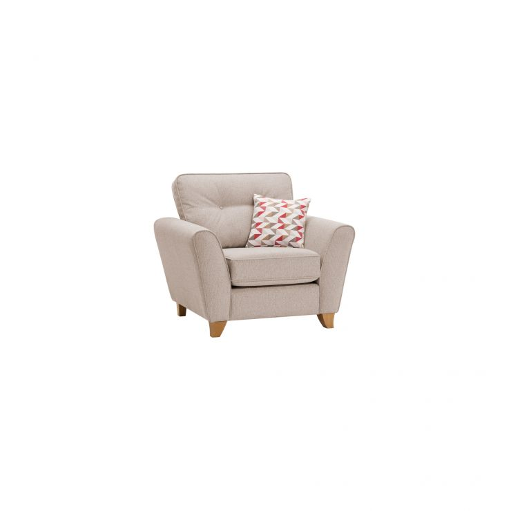 Memphis Armchair in Chase Fabric - Natural - Image 9