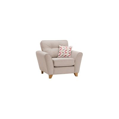 Memphis Armchair in Chase Fabric - Natural