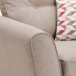 Memphis Armchair in Chase Fabric - Natural - Thumbnail 7