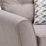 Memphis Armchair in Chase Fabric - Silver - Thumbnail 7
