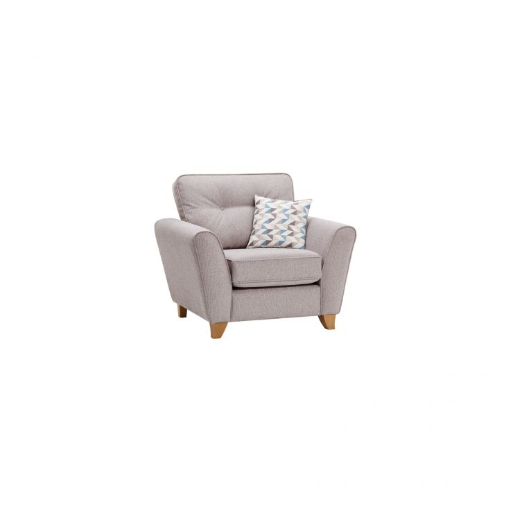 Memphis Armchair in Chase Fabric - Silver - Image 10