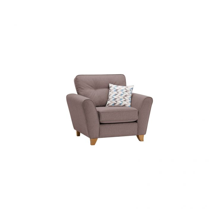 Memphis Armchair in Chase Fabric - Taupe