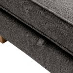 Memphis Left Hand Corner Sofa in Chase Fabric - Charcoal - Thumbnail 7