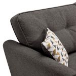Memphis Left Hand Corner Sofa in Chase Fabric - Charcoal - Thumbnail 5