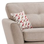 Memphis Left Hand Corner Sofa in Chase Fabric - Natural - Thumbnail 3