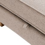 Memphis Left Hand Corner Sofa in Chase Fabric - Natural - Thumbnail 7