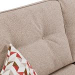 Memphis Left Hand Corner Sofa in Chase Fabric - Natural - Thumbnail 6
