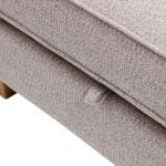 Memphis Left Hand Corner Sofa in Chase Fabric - Silver - Thumbnail 7