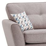 Memphis Left Hand Corner Sofa in Chase Fabric - Silver - Thumbnail 3