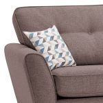 Memphis Left Hand Corner Sofa in Chase Fabric - Taupe - Thumbnail 3