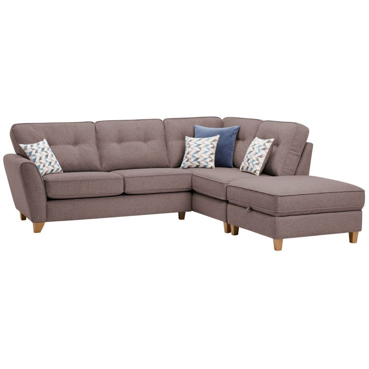 Memphis Left Hand Corner Sofa in Chase Fabric - Taupe
