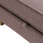 Memphis Left Hand Corner Sofa in Chase Fabric - Taupe - Thumbnail 7