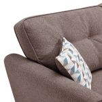 Memphis Left Hand Corner Sofa in Chase Fabric - Taupe - Thumbnail 4
