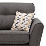 Memphis Right Hand Corner Sofa in Chase Fabric - Charcoal - Thumbnail 3