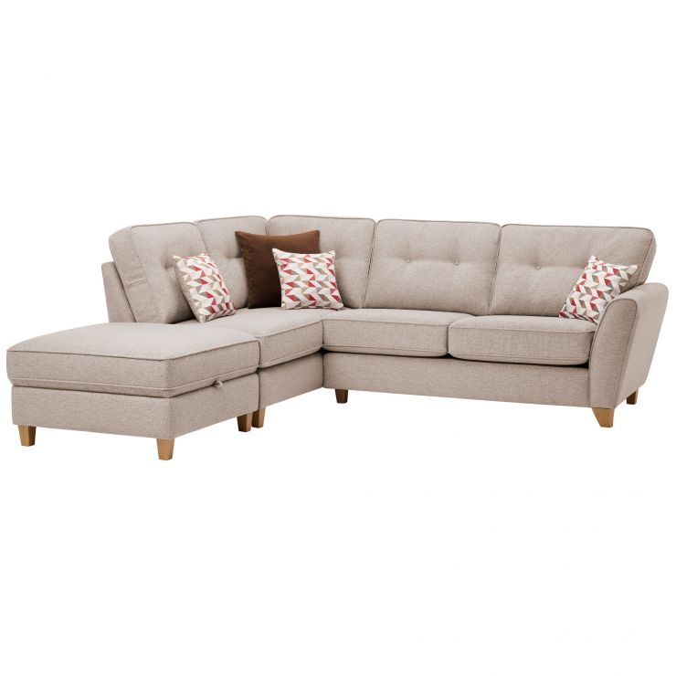 Memphis Right Hand Corner Sofa in Chase Fabric - Natural