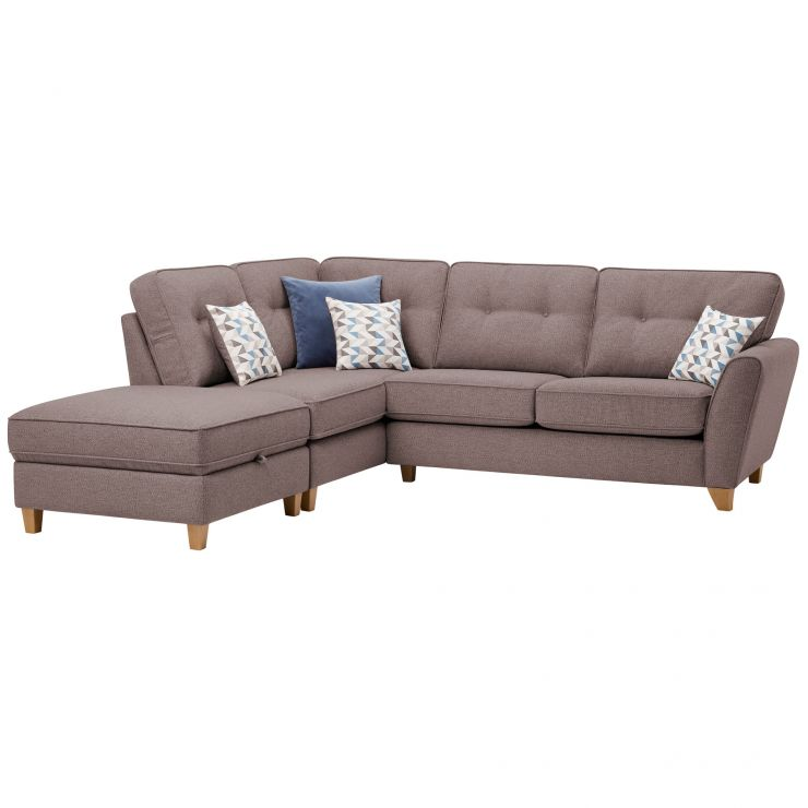 Memphis Right Hand Corner Sofa in Chase Fabric - Taupe