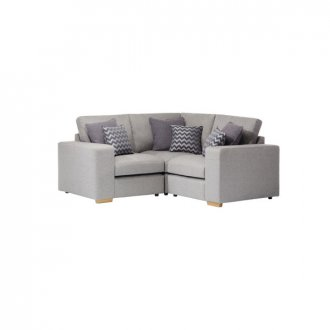 Milton Modular Group 1 in Orly Silver with Charcoal Scatters