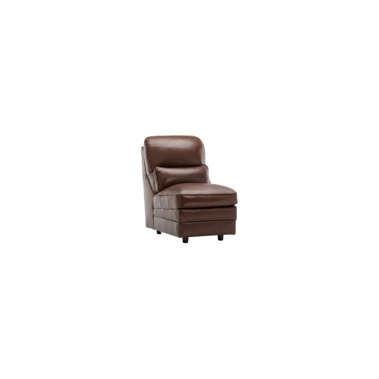 Modena Armless Module in 2 Tone Brown Leather - Image 4
