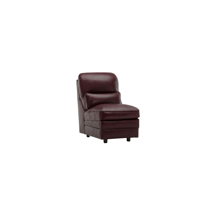 Modena Armless Module in Burgundy Leather - Image 4