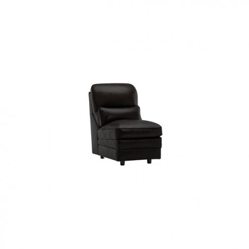 Modena Armless Module in Black Leather