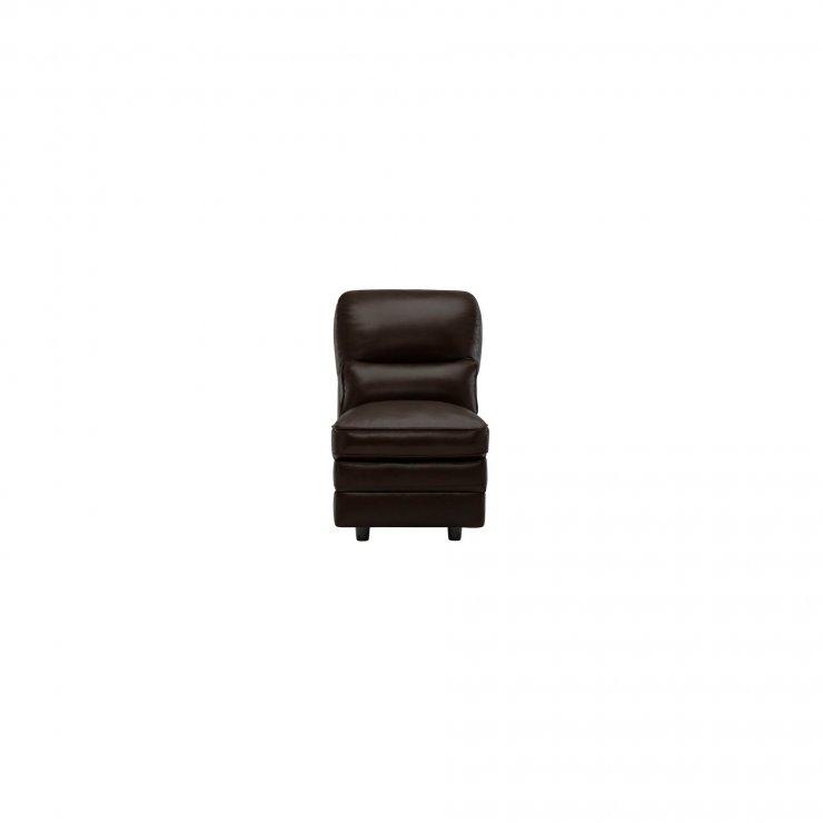Modena Armless Module in Dark Brown Leather
