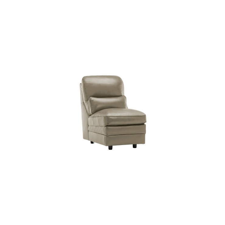 Modena Armless Module in Grey Leather - Image 1