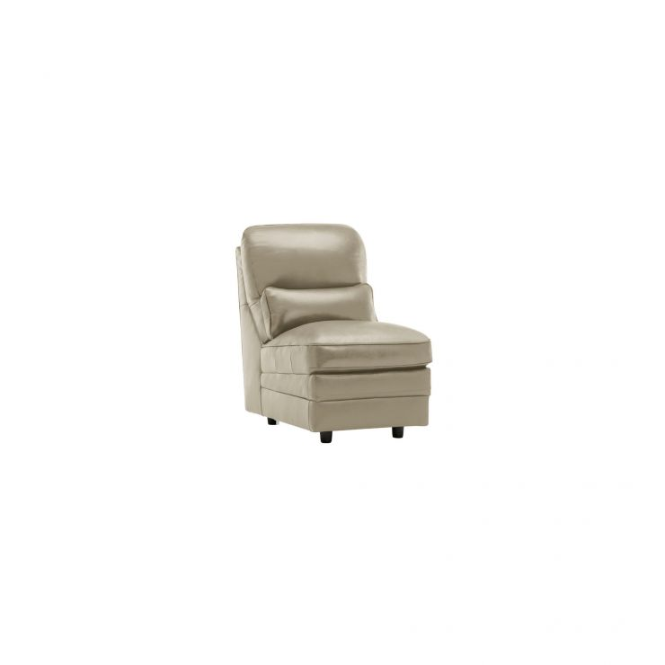 Modena Armless Module in Stone Leather - Image 4