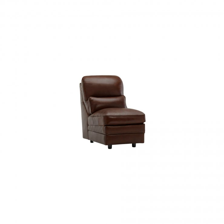 Modena Armless Module in Tan Leather - Image 4